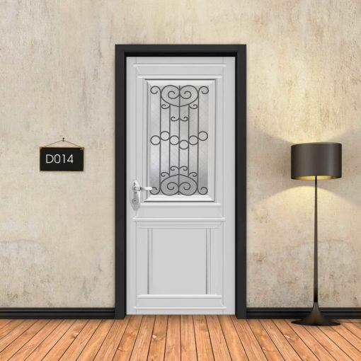 טפט לדלת לבן קלאסי חלון רחב