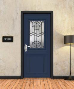 טפט לדלת כחול קלאסי חלון רחב