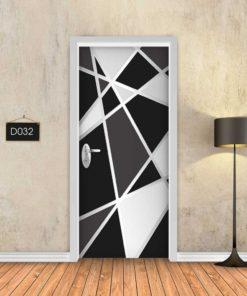 גיאומטרי שחור לבן D032