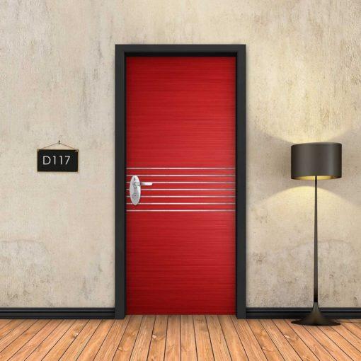 אדום 7 פסי ניקל D117