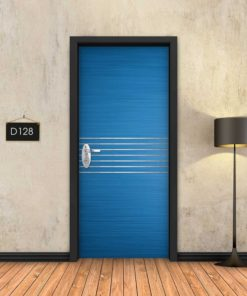 כחול 7 פסי ניקל D128