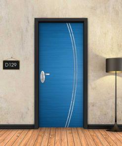 כחול 2 פסי ניקל מעוקלים D129