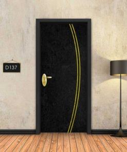 בטון שחור 2 פסי זהב מעוקלים D137