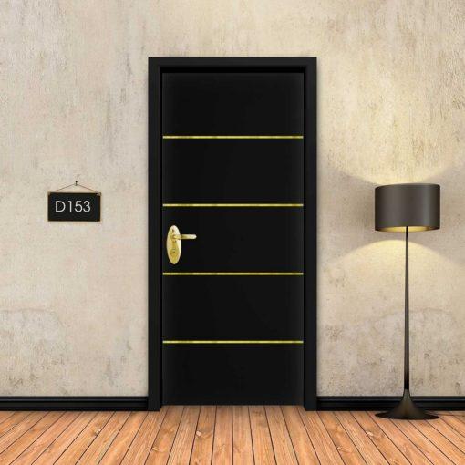 שחור 4 פסי זהב D153