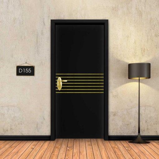 שחור 7 פסי זהב D155