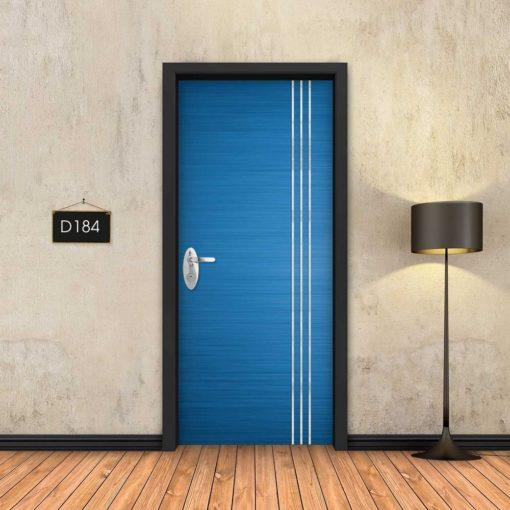 כחול 3 פסי ניקל D184