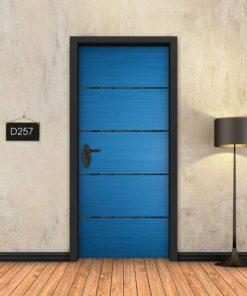 כחול 4 פסים שחורים D257