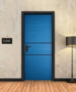 כחול 2 פסים שחורים D260