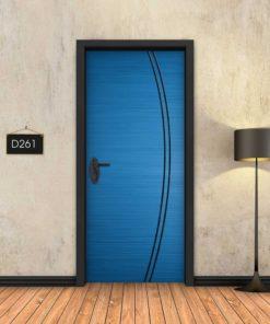 כחול 2 פסים שחורים מעוקלים D261