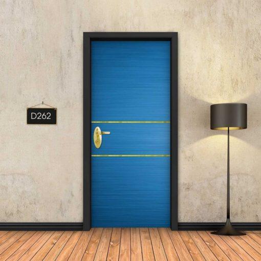 כחול 2 פסי זהב D262