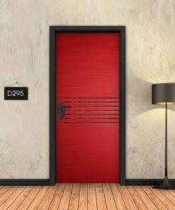 אדום 7 פסים שחורים D295