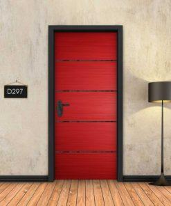אדום 4 פסים שחורים D297
