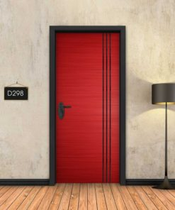 אדום 3 פסים שחורים D298