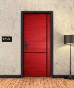 אדום 2X2 פסים שחורים D299