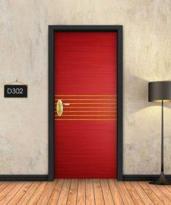 אדום 7 פסי זהב D302