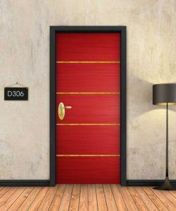אדום 4 פסי זהב D306