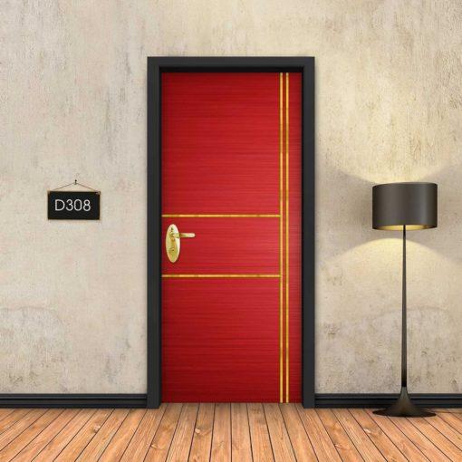 אדום 2X2 פסי זהב D308