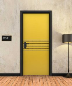 צהוב 7 פסים שחורים D311
