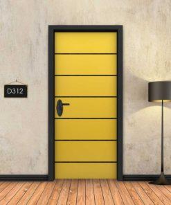 צהוב 6 פסים שחורים D312