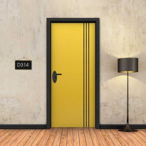 צהוב 3 פסים שחורים D314