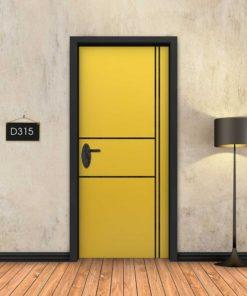 צהוב 2X2 פסים שחורים D315