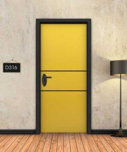 צהוב 2 פסים שחורים D316