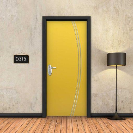 צהוב 2 פסי ניקל מעוקלים D318