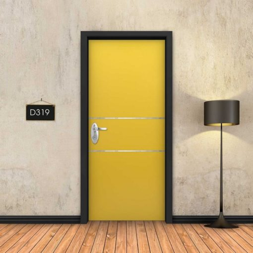 צהוב 2 פסי ניקל D319