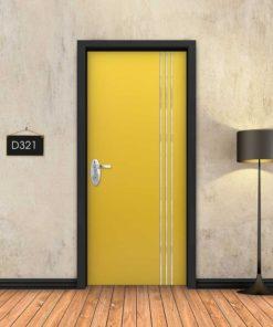 צהוב 3 פסי ניקל D321