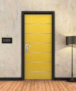 צהוב 6 פסי ניקל D323