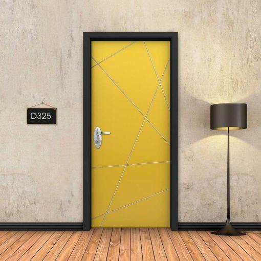 צהוב פסי ניקל מופשטים D325