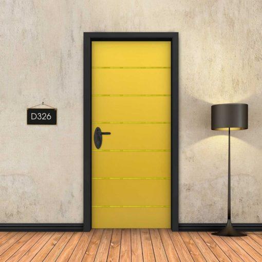 צהוב 6 פסי זהב D326