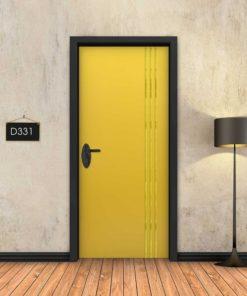 צהוב 3 פסי זהב D331