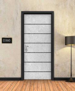 בטון לבן 6 פסים שחורים D360