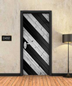 פסי עץ שחור בזווית D432