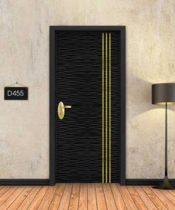 גלים שחורים 3 פסי זהב D455