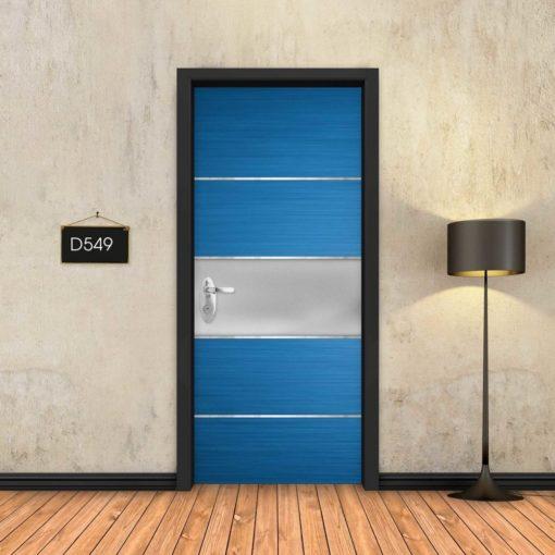 פס מתכת כחול D549