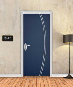 כחול כהה 2 פסי ניקל מעוקלים D617